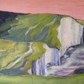South Downs Sisters, 2018, oil on canvas, 50 x 100cm