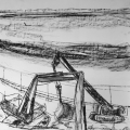 Mistley Quay Drawing Triptych pt.2