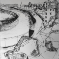 Mistley Quay Drawing Triptych pt.3