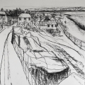 Mistley Quay Drawing triptych pt.1