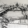 Study for Switch House Panorama, LH panel SOLD
