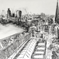 Study for Switch House Panorama, RH panel SOLD